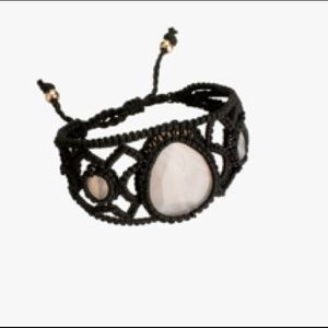 LIMITED EDITION NATURAL STONE CROCHETED BRACELET